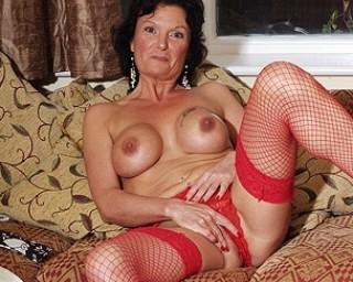 Horny mature slut masturbating
