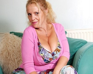 Horny big breasted housewife getting very naughty