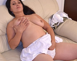 Hot and horny housewife masturbating when she is all alone