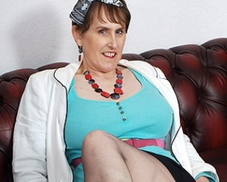 This mature Brittish muffin loves to play with her funbox