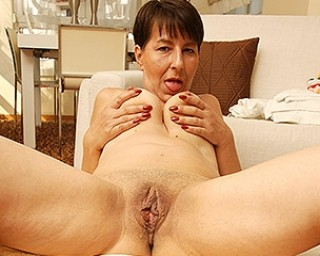 Naughty housewife getting hot during her work