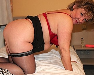 Naughty German amateur housewife playing with herself