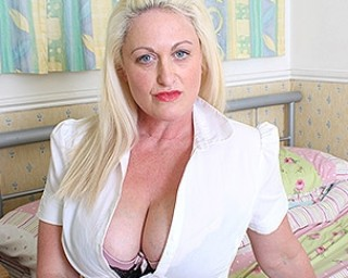 Hot British big breasted housewife gets horny as hell