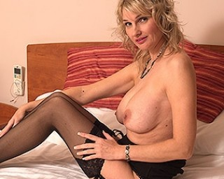 Naughty British MILF playing with her Hairy Pussy