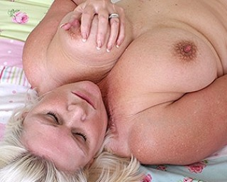 Horny Big breasted BBW getting wet and wild
