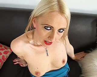 Horny British housewife playing with herself