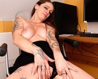 Naughty German housewife getting wet