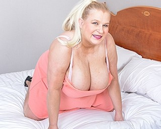 This naughty housewife with huge breasts goes all the way