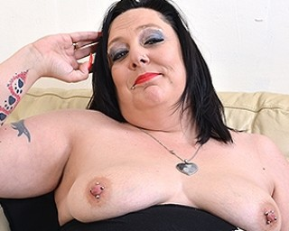 Naughty British lady playing with herself