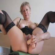 This mature nympho loves her rubber toys