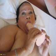 This hot mama loves playing with her toys