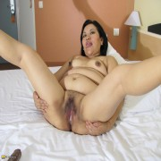 This hairy housewife loves to get naughty