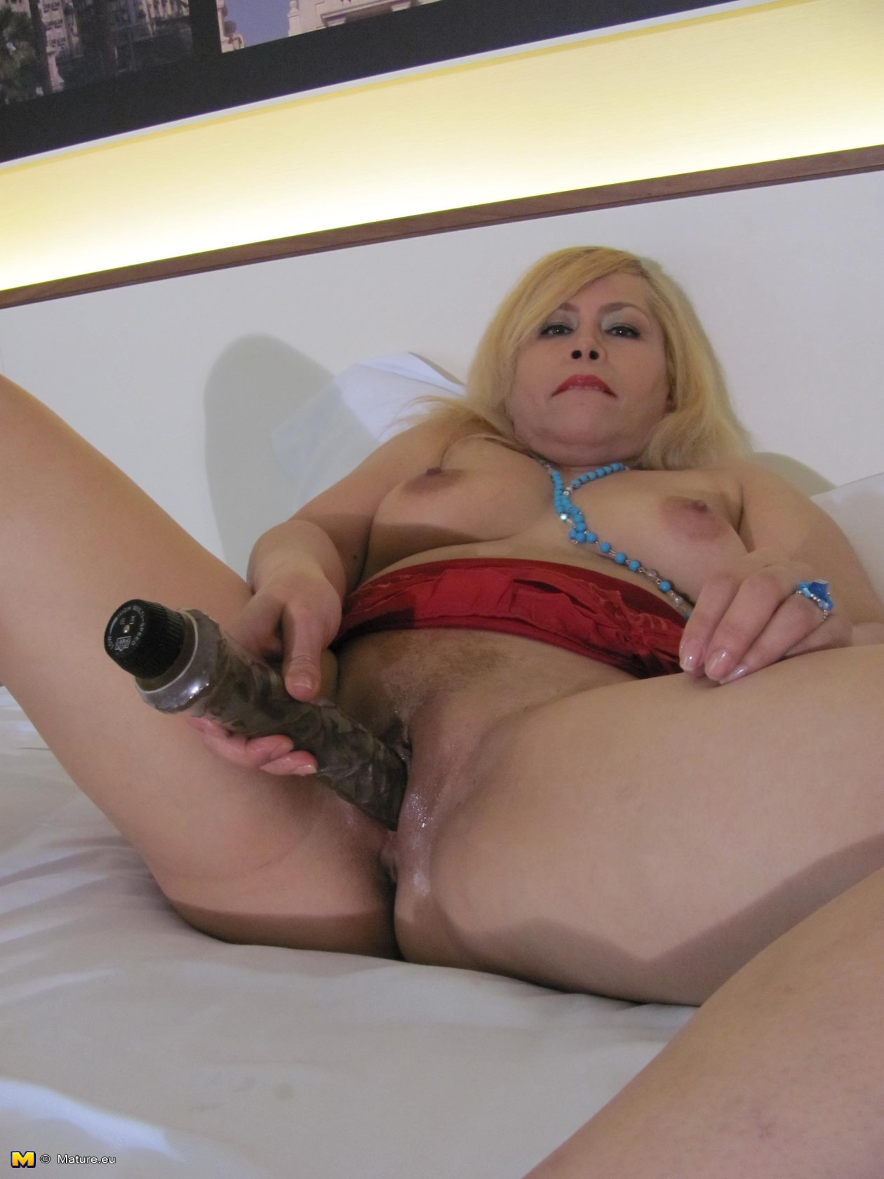 Think, you Mature blonde playing with her pussy good