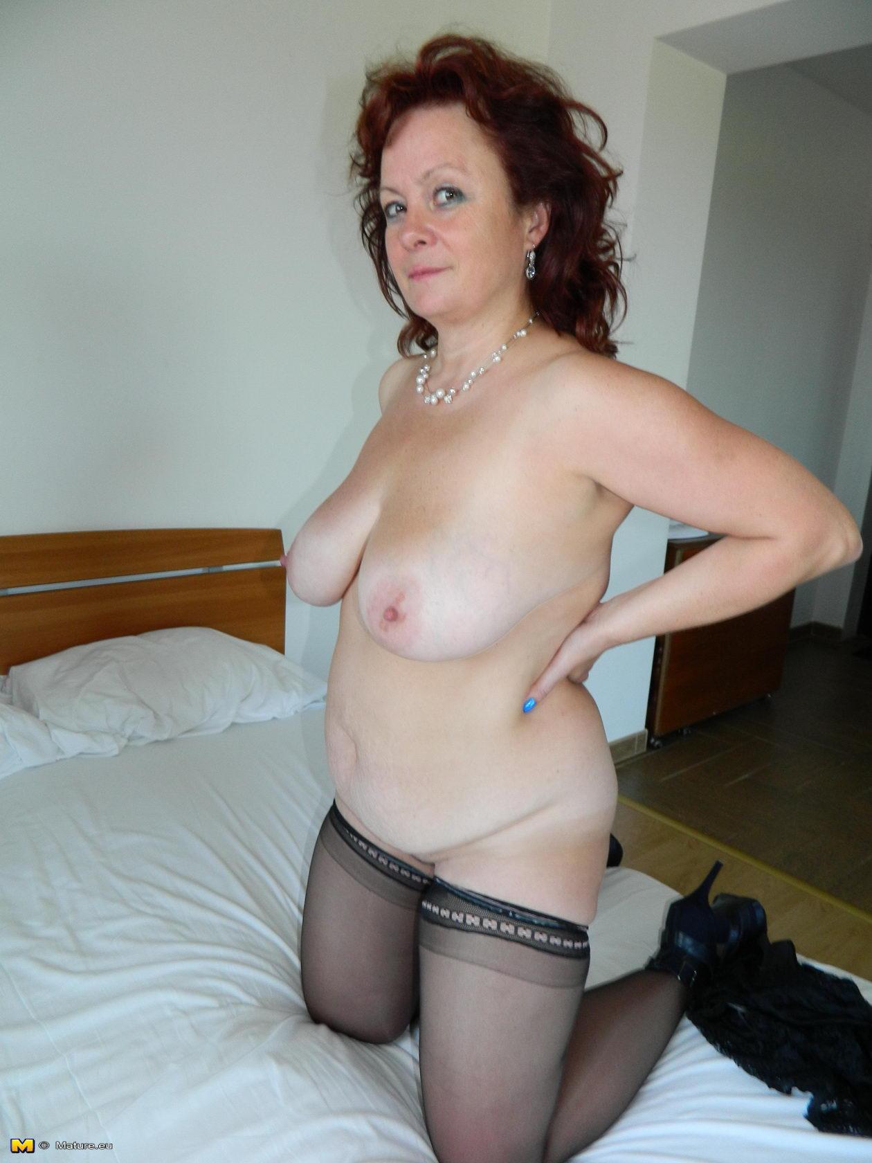 Big breasted mature slut going wild 9