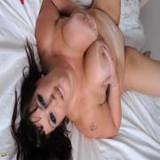 Big brested mature slut playing alone