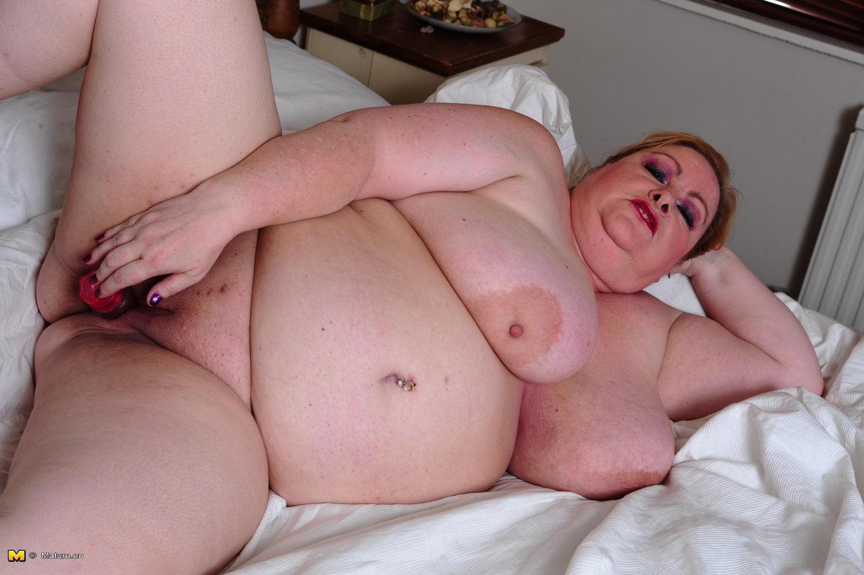Teen nude in dungarees