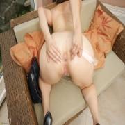 Big breasted mature slut playing alone