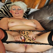 Hot housewife playing with her vibrating friend