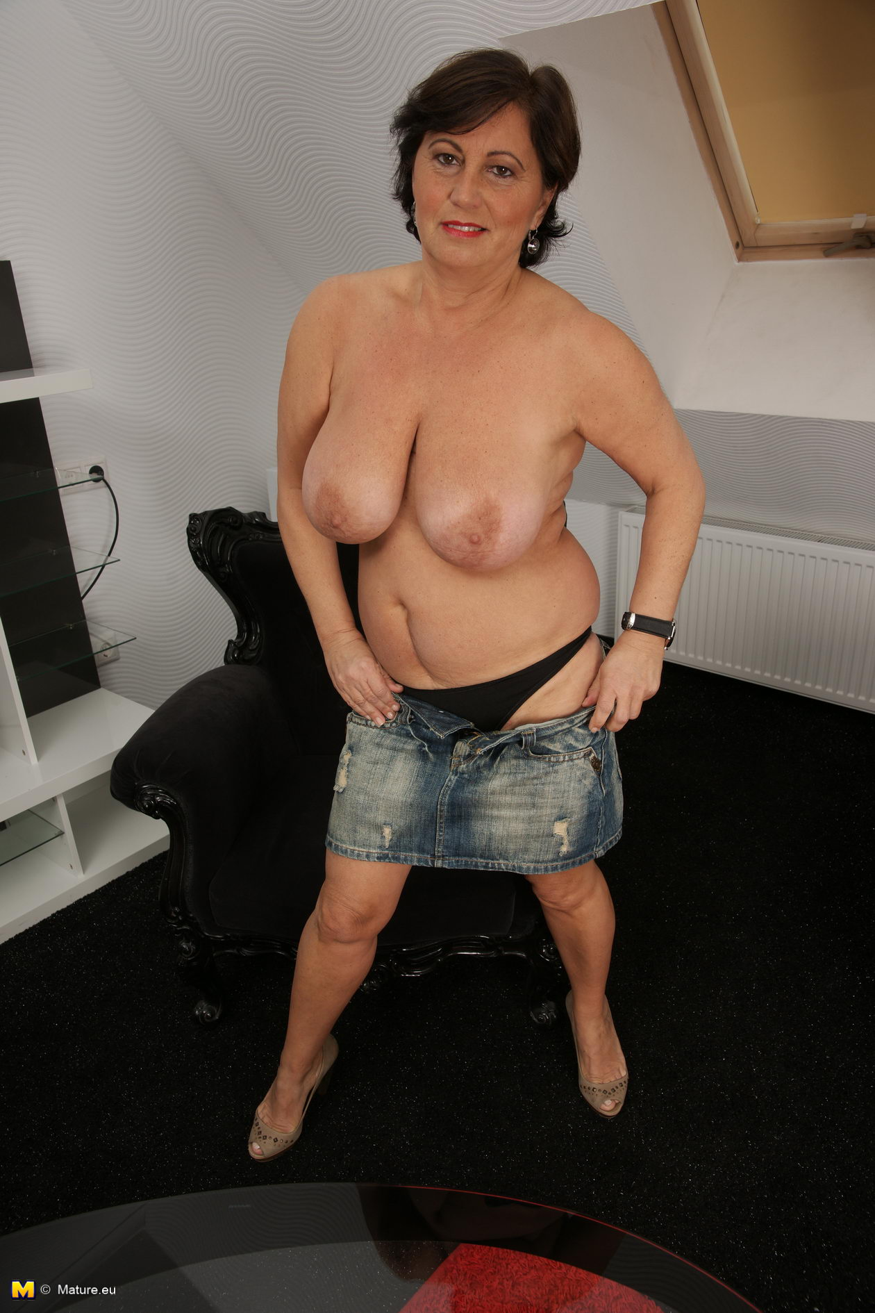 Very busty slutty granny on dating site