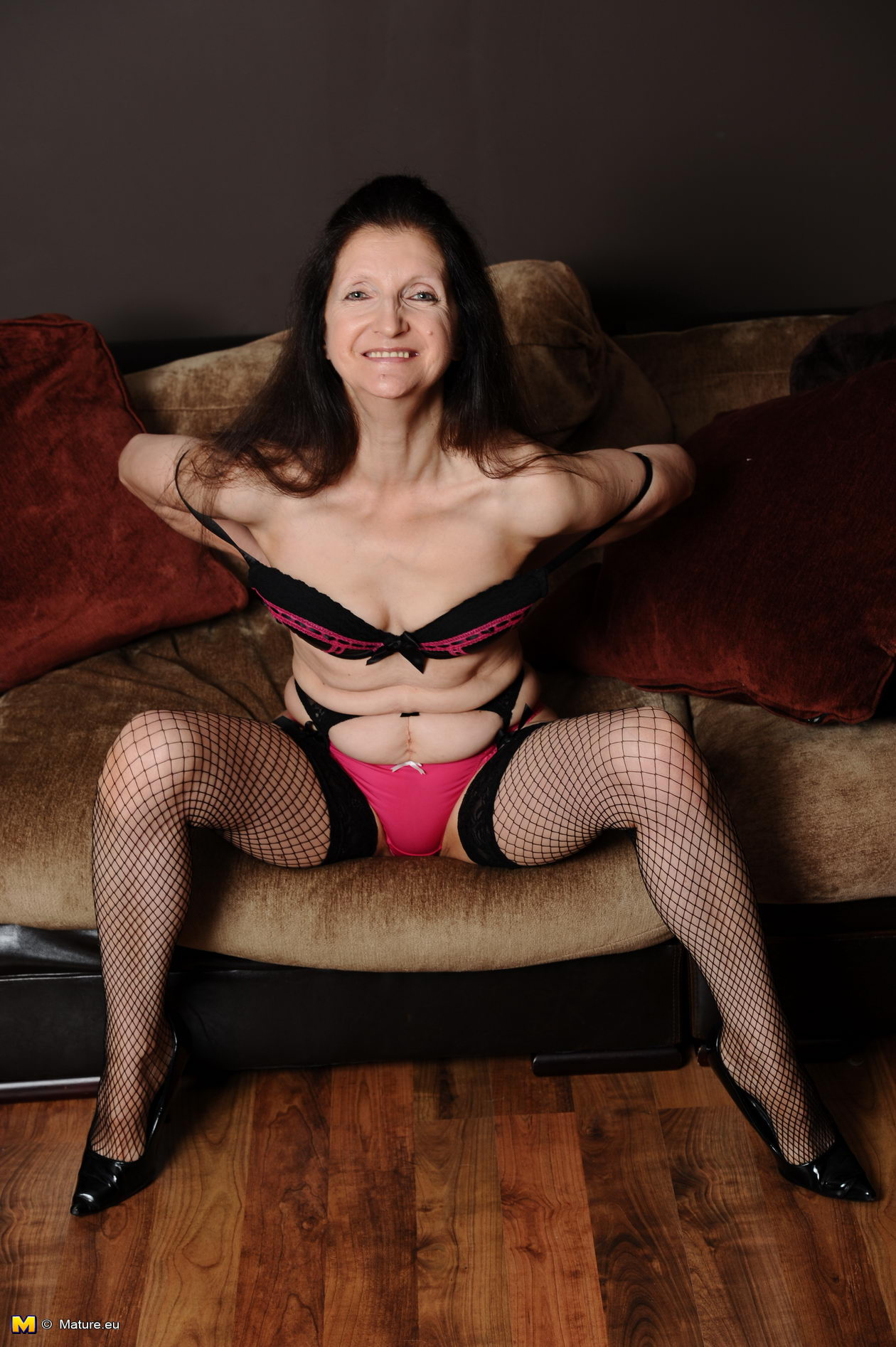 Mature masterbating with toys