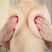Naughty housewife stripping down