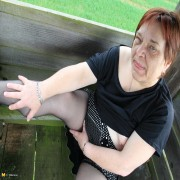 This German BBW loves to get wet in public