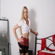 Hot blonde MILF teasing before pleasing