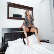 Horny European housewife playing by herself