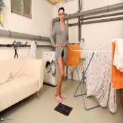 German housewife getting her wash done