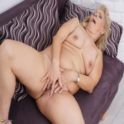 Naughty mature lady getting wet and wild