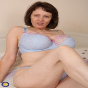 Big breasted housewife getting wet and wild