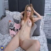 Naughty mom getting wet and wild