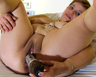 Horny mama playing with herself