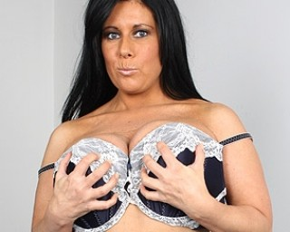 Big breasted housewife getting naughty