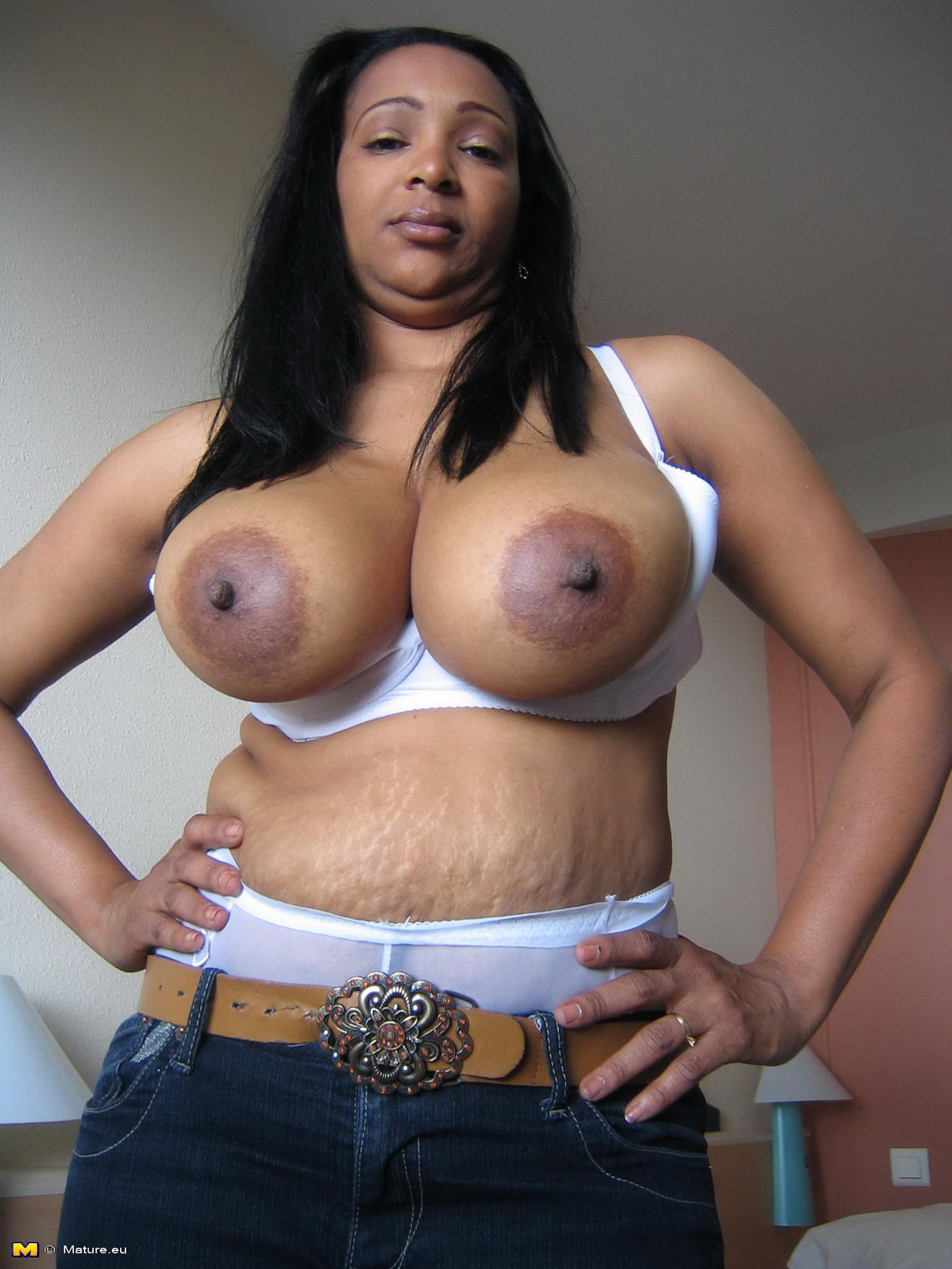 Black sex big boobs mature