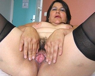 Get a taste of this chubby hairy mature cunt