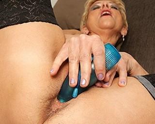 Naughty housewife loves to masturbate