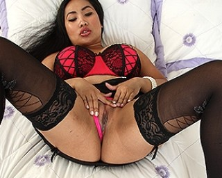 Naughty Asian housewife getting very wet and wild