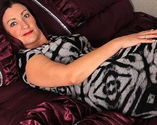 Naughty British housewife playing alone