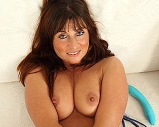 Hot British mom playing with her pussy