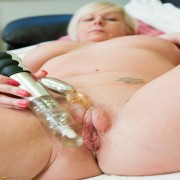 Mature Hanah loves to play with her toys