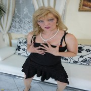 This horny housewife loves to get wet