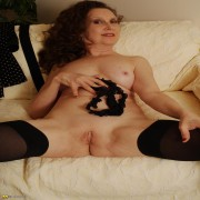 This kinky mature brunette loves to give a private show