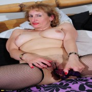 Naughty housewife getting wet