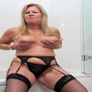 This naughty mama loves playing alone