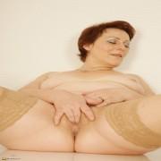 Naughty European housewife pleasing herself