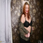 Horny British mature lady playing alone