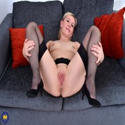 Naughty housewife from the UK getting wet and wild