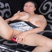 Huge breasted British housewife getting very naughty